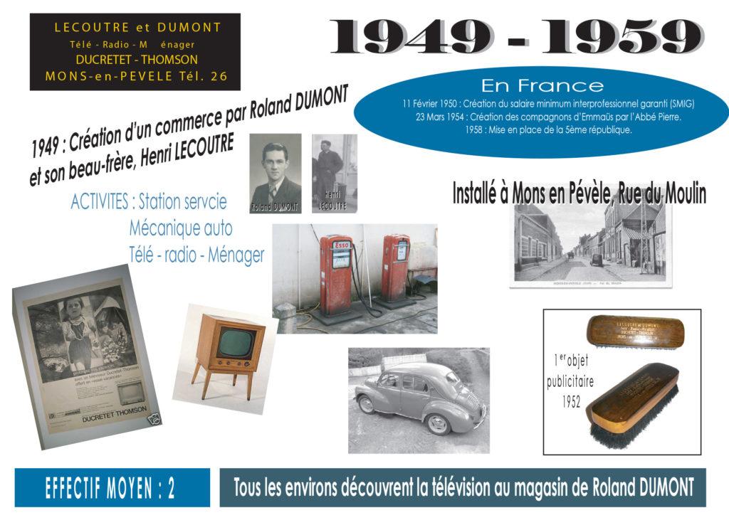 Historique Dumont 1949-1959
