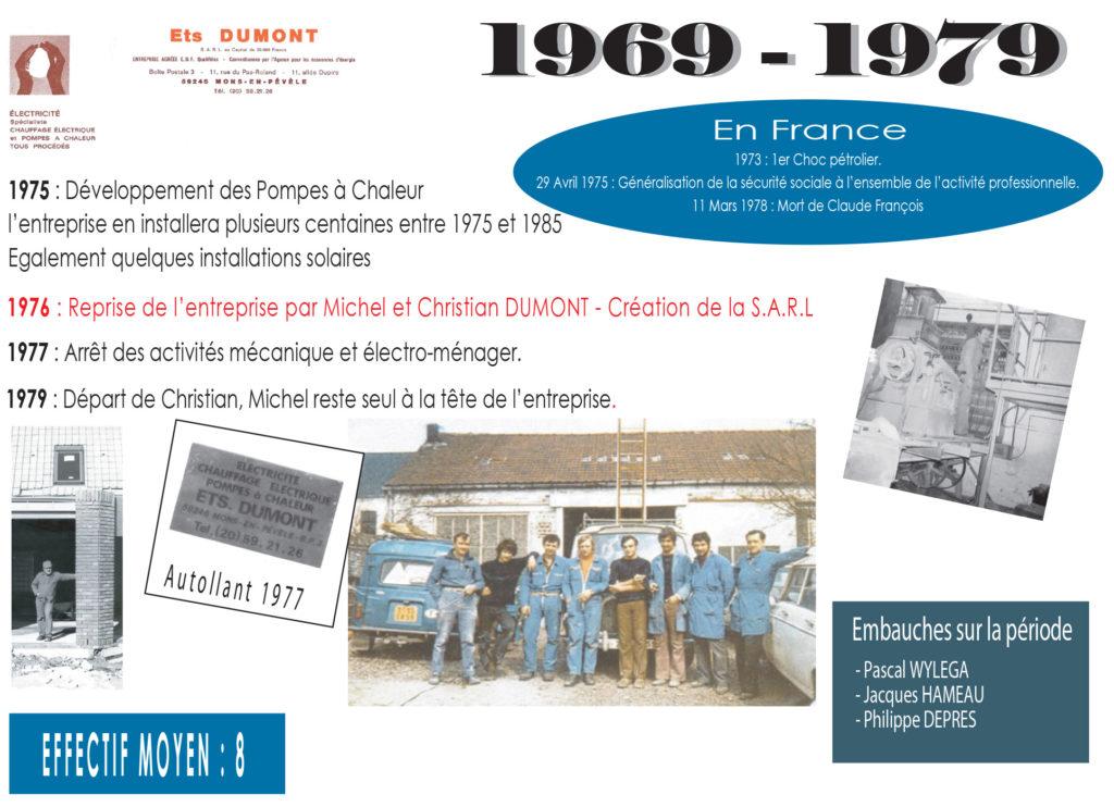 Historique Dumont 1969-1979