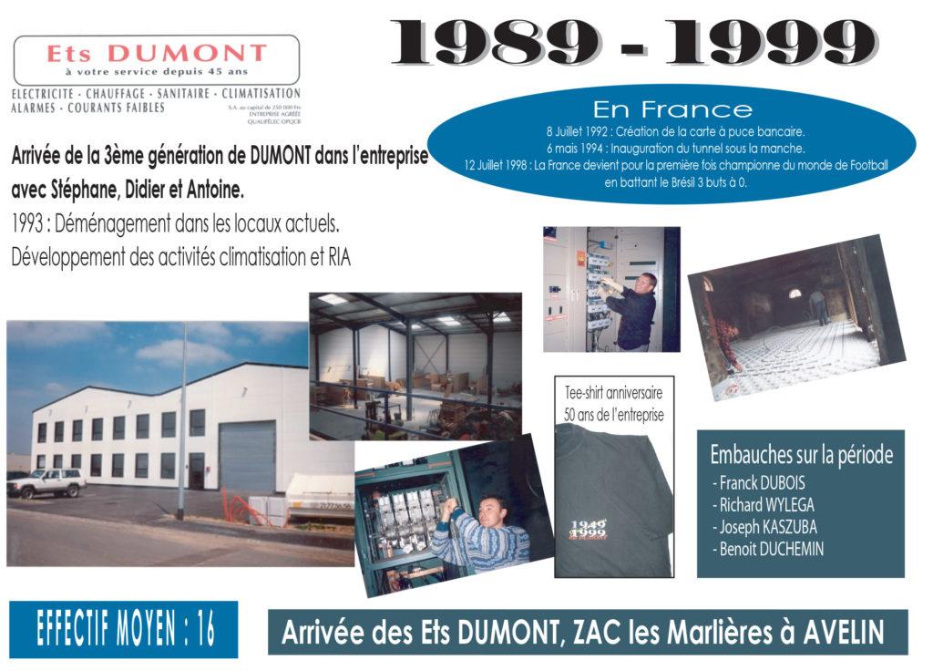 Historique Dumont 1989-1999