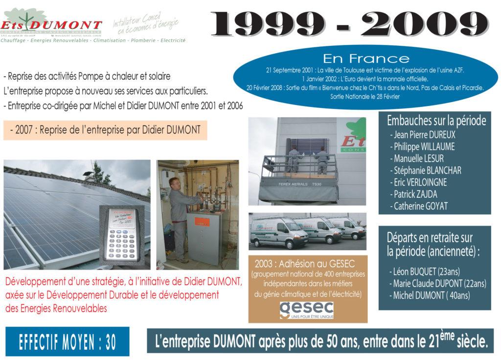 Historique Dumont 1999-2009