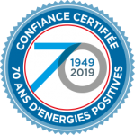 Confiance certifiée - 70 ans d'énergies positives